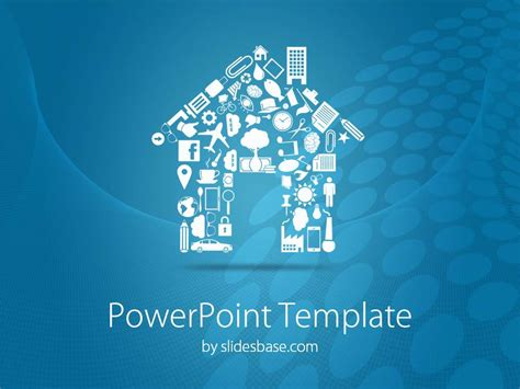 house shape powerpoint template slidesbase