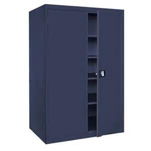 sandusky elite series 72 in h x 46 in w x 24 in d 5 shelf steel recessed handle storage