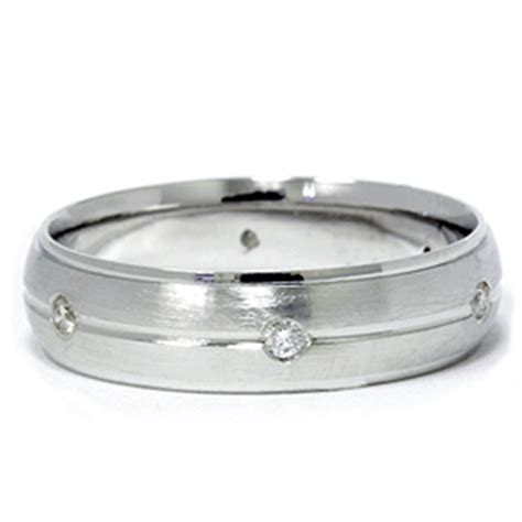 mens 950 platinum brushed wedding ring band ebay