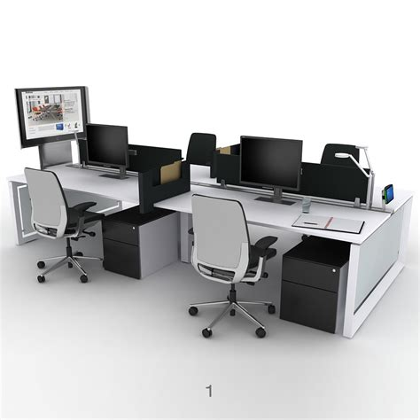 bureau steelcase steelcase frameone loop bench desks office desks