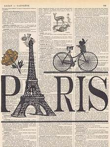 French Vintage Home Decor ParisBicycle Eiffel Tower