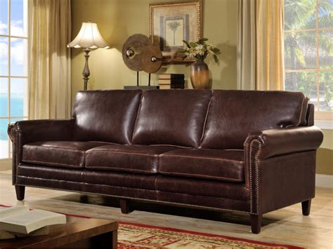 canapé en cuir vieilli canapé 3 places en cuir vieilli chocolat