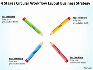 Business Flow Diagram Layout Strategy Powerpoint Templates