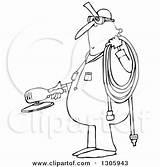Cartoon Air Grinder Hose Holding Worker Chubby Clipart Illustration Djart Royalty Lineart Outline Vector Career Regarding Notes Clipartof sketch template