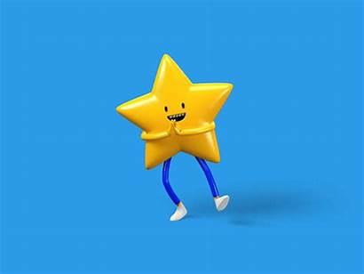 Star Nickelodeon Dancing Animation 3d Dribbble Illustration