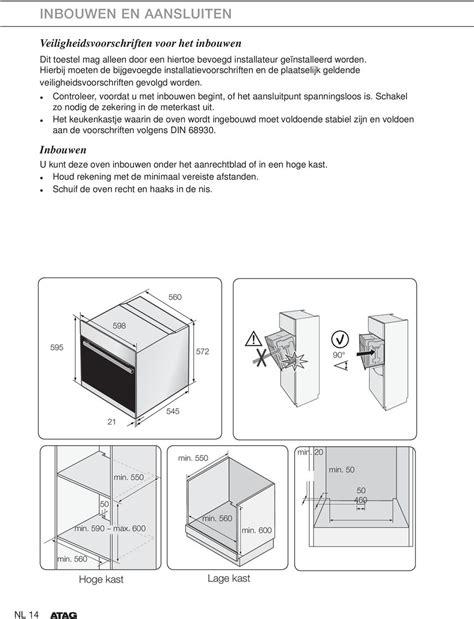 Oven Inbouwen In Keukenkastje by Gebruiksaanwijzing Oven Pdf