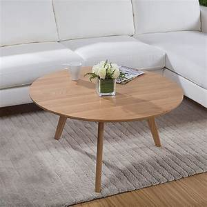 aliexpresscom buy 90 cm round white oak solid wood With white solid wood coffee table