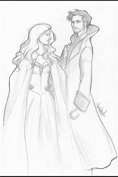 Upon Once Ouat Swan Drawing Killian Emma