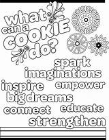Scout Coloring Cookie Pages Cookies Daisy Sheets Brownie Activities Sparks Colouring Scouts Abc Brownies Guide Thank Guides Google Activity Booth sketch template