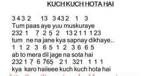 not angka lagu jepang pencarian not angka not angka lagu kuch kuch hota hai india