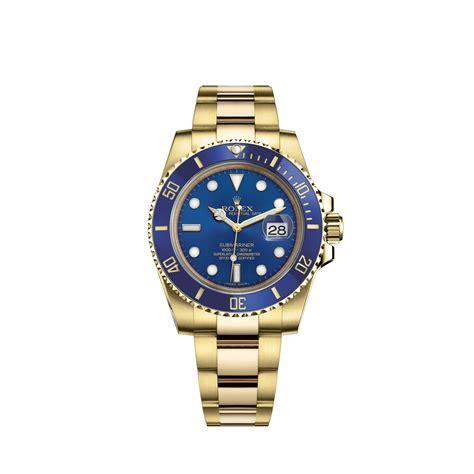 Rolex Submariner 116618LB Gold Watch (Blue)   World's Best