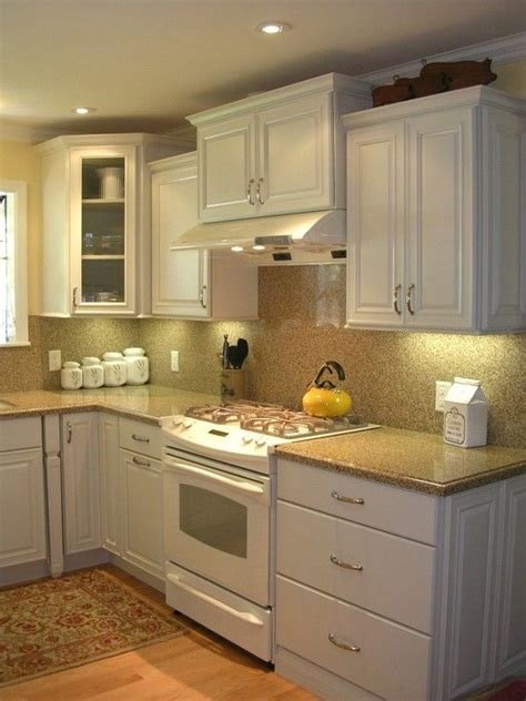 Small White Kitchen Ideas by Traditional Kitchen White Cabinets White Appliances Design