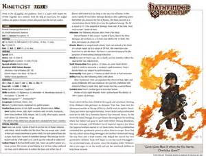 Pre-Generated Characters Pathfinder Society