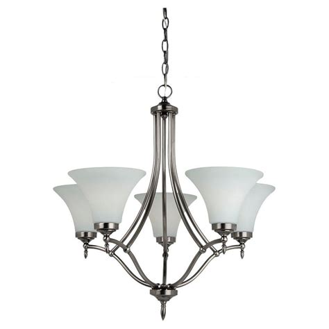 antique nickel chandelier sea gull lighting montreal 5 light antique brushed nickel