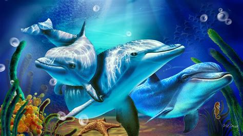 Animated Dolphin Wallpaper - animated dolphin screensavers wallpaper 46 images