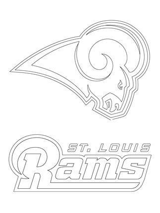 click   printable version  st louis rams logo