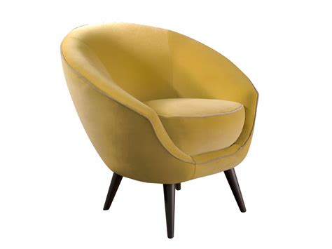 Upholstered Fabric Armchair Tonda By Softhouse