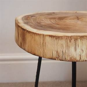 Tree Trunk Side Table Design Decoration