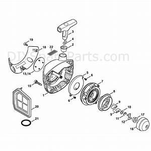Stihl Fs 460 Clearing Saw  Fs460c  Parts Diagram  Rewind Starter