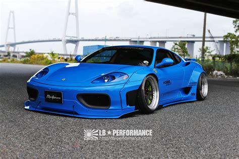 liberty walk custom car ferrari   body kit