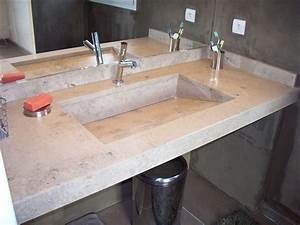 Plan De Travail Salle De Bain : plan de travail imitation marbre 20170725150212 ~ Premium-room.com Idées de Décoration