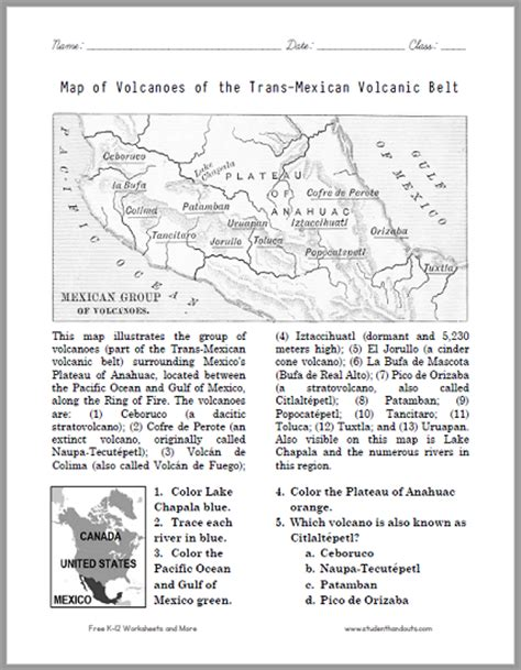 map of volcanoes of the trans mexican volcanic belt