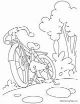 Coloring Bike Bicycle Mountain Printable Mountaineer Biking Template Bestcoloringpages Sheets Drawing Transport Drawings Sketch Transportation Mountains Templates Botero Popular sketch template