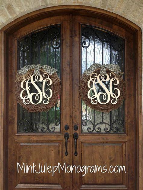 Door Monograms & Wall Monogram Letter Wreath Steel Diy
