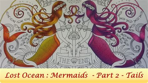 color mermaid tails lost ocean coloring book