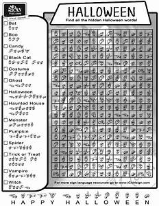 Fun Halloween Word Search  Great Way To Practice Your Sign