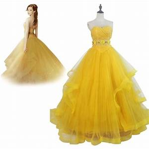 2017 beaute et la bete belle robe princesse belle bal With robe de la belle et la bete adulte