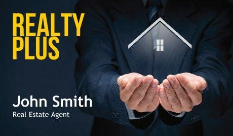 general real estate agent realty business cards