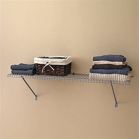 how to clean closetmaid wire shelving closetmaid 174 4 foot wire shelf kit in brushed chrome bed