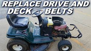 How To Replace Both Drive And Deck Belts On A Craftsman