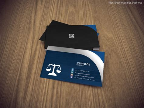 attorney business card psd template business cards