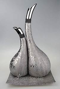 Silberne Deko Vasen : 3 tlg dekorative designer deko vasen set keramik gold bronze silber ebay ~ Indierocktalk.com Haus und Dekorationen