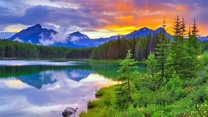 Banff Park National Canada Herbert Lake Alberta