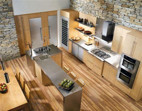 cuisine en bois h黎re déco cuisine avec parquet