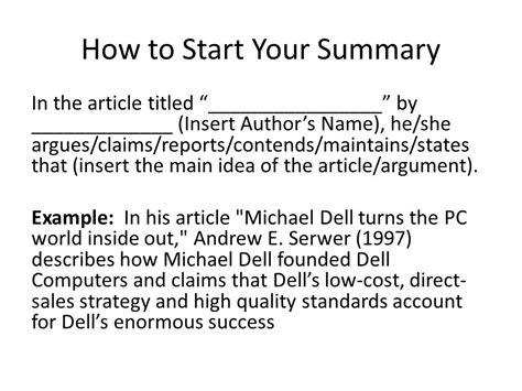 article summary exle choice image diagram writing