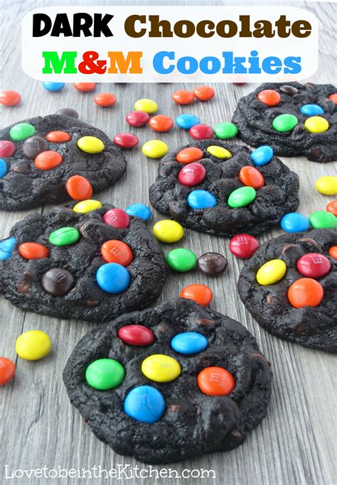 dark chocolate mm cookies love     kitchen