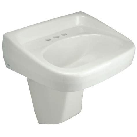 wall hung bathroom sink zurn wall mounted bathroom sink with half pedestal in