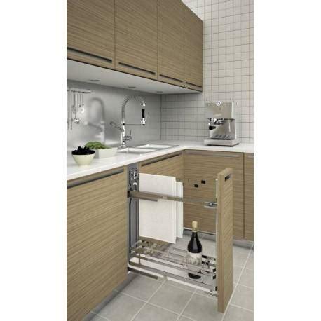 porte torchon cuisine porte torchon coulissant pour caisson bas accessoires de
