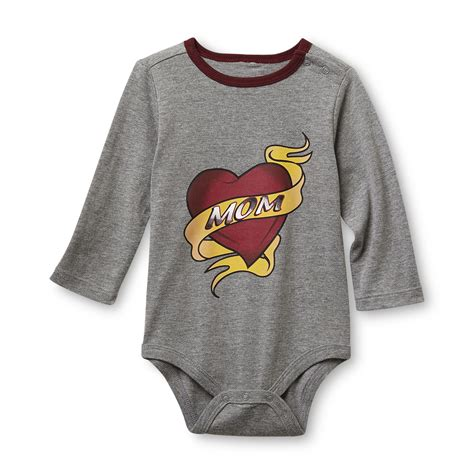 sk baby infant boys long sleeve bodysuit mom tattoo