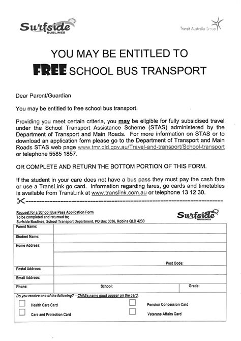 colchester bus pass application form news