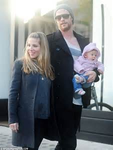 Chris Hemsworth is reunited with his family as he takes a ...