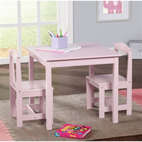 study small table and chair set generic 3 wood 554 | s l1600