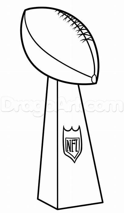 Trophy Bowl Super Lombardi Coloring Clipart Drawing