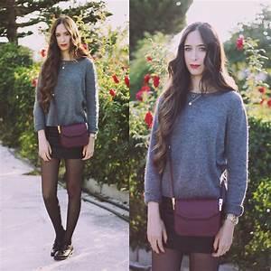 Mara Rubio Mango Sweater Mango Bag Stradivarius Skirt