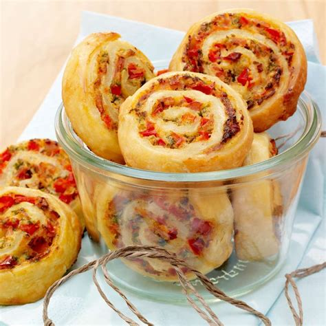 pikante schinken paprika schnecken rezept low carb