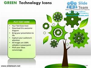 Green technology icons powerpoint ppt templates.